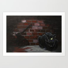 The Black Cat Art Print