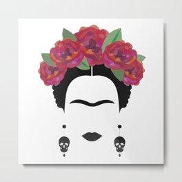 Frida Kahlo Feminist Metal Print