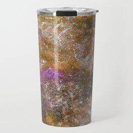 A galactic ocean -Orange- Cosmic Painting Art Travel Mug