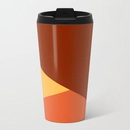 Brown Ombre Shapes Travel Mug