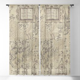 The Wizard world of Hogwarts Sheer Curtain