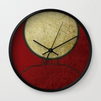 ironman Wall Clocks featuring Ironman by Fries Frame