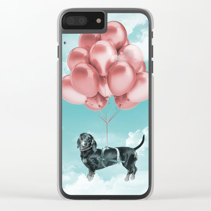 Dachshund Drift Clear iPhone Case