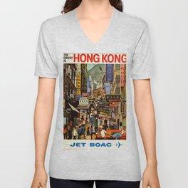 Hongkong Unisex V-Neck