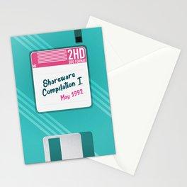 Nostalgic Retro Floppy Disk May 1992 Stationery Cards