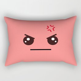 ANGRY! Kawaii Face (Check Out The Mugs!) Rectangular Pillow