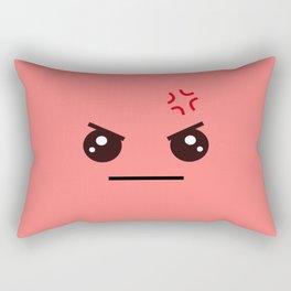 ANGRY! Kawaii Face (Check Out The Mugs!) Rectangular Pillow