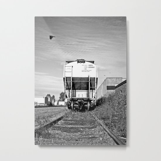 Urban train car Metal Print