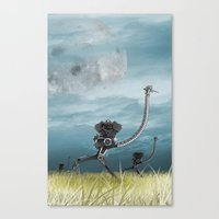 maze runner Canvas Prints featuring Runner by Tony Vazquez