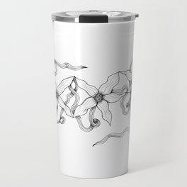 Huia Art Clematis Ribbon Travel Mug