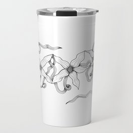 Huia Art Clematis Ribbon Travel Mug