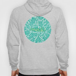 Pardon My French – Gold on Turquoise Hoody