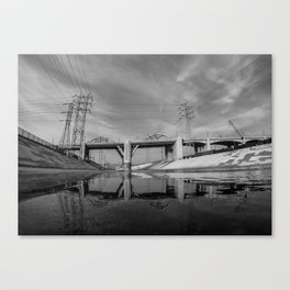 The Sixth Street Bridge, A Reflection Canvas Print