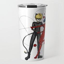 Ladybug and Chat Noir by Studinano Travel Mug