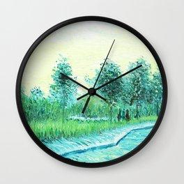 Van Gogh : Park in Asnieres Wall Clock