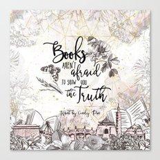 Want - Books Aren't Afraid Canvas Print