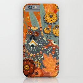 Foliage Cat iPhone Case