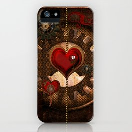 Steampunk, awesome steampunk heart iPhone Case