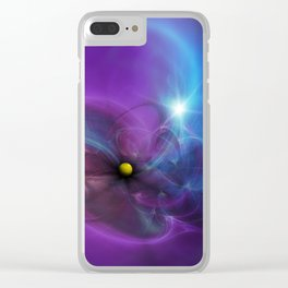 Gravitational Distort Space Abstract Art Clear iPhone Case