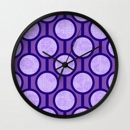 Retro-Delight - Simple Circles (Laced) - Lavender Wall Clock