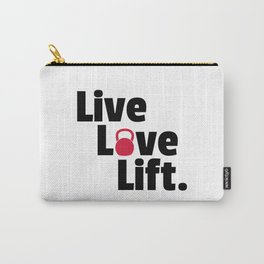 Live, Love, Lift Gym Quote Carry-All Pouch