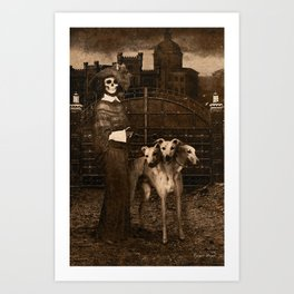 Dark Victorian Portraits: The Dog Walker Art Print