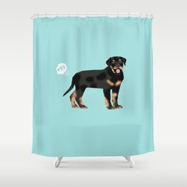 rottweiler funny farting dog breed pure breed pet gifts Shower Curtain