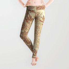 Warm Seaweed Pattern Leggings