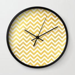 Gold foil chevron pattern Wall Clock