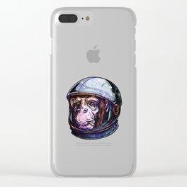 Astro Monkey Ape Galaxy Clear iPhone Case
