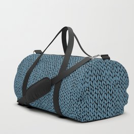 Hand Knit Niagra Blue Duffle Bag