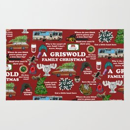 Christmas Vacation Collage Rug