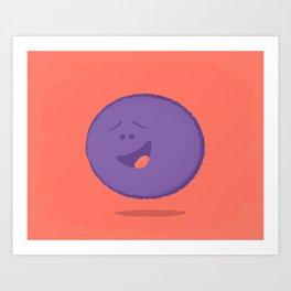 Gratified Grape Art Print