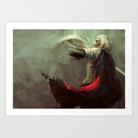 thranduil Art Prints featuring Thranduil by nlmda
