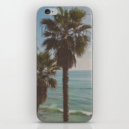 palm tree and ocean. California Vacation iPhone Skin
