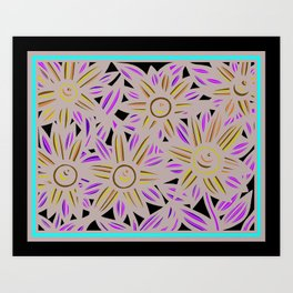 Art Print, Wall Art, Home Decor, Print Botanical, Drawing Flowers, Line Drawing Flower, Botanical Pr Art Print