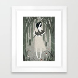 Mama Wolf Framed Art Print