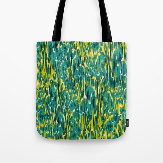 Ikat Floral Tote Bag