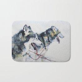 Huskies Bath Mat