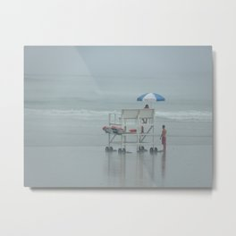 Lonely Lifeguards Metal Print