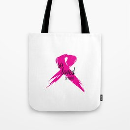 Be Healed Breast Cancer Awareness Tote Bag