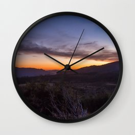 Twilight Along Big Oak Flat Road Wall Clock