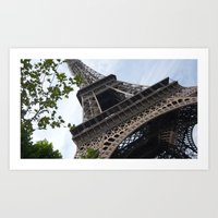 eiffel tower Art Prints featuring Eiffel Tower  by Françoise Reina