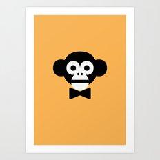 smart monkey Art Print