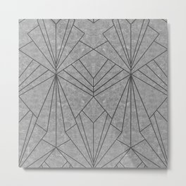 Art Deco in Black & Grey - Large Scale Metal Print