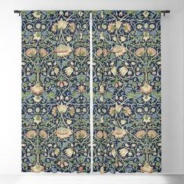 William Morris Vintage Lodden Indigo Blue Mineral Blackout Curtain
