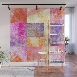 Soft Hued Colors Collage Wall Mural