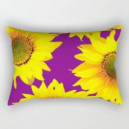 Sunflowers on a purple background - summer mood - #Society6 #buyart Rectangular Pillow