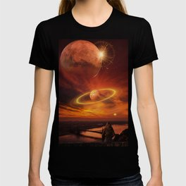The Planets Cosmos Girl by GEN Z T-shirt