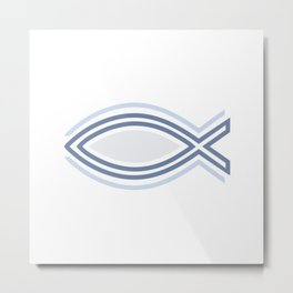 Ichthys Christian Fish Symbol. The jesus fish #society6 #decor #buyart #artprint Metal Print